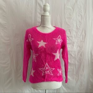 Juicy Couture Pink Star Print Sweater